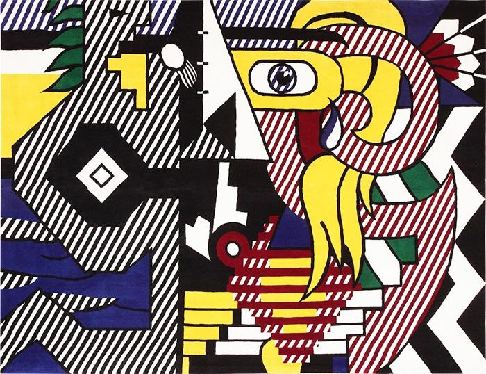Modern Art Rugs by artist Roy Lichtenstein #47406 by Nazmiyal