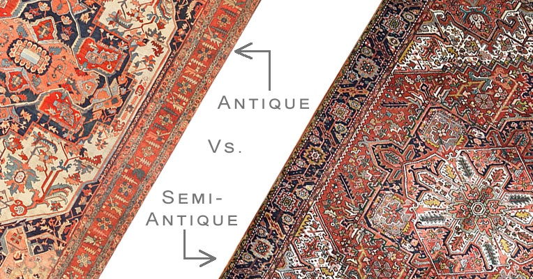 Semi Antique Rugs vs Antique Carpets by nazmiyal