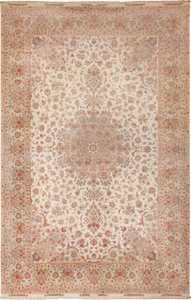 Large Vintage Wool and Silk Persian Tabriz Rug 60012 by Nazmiyal