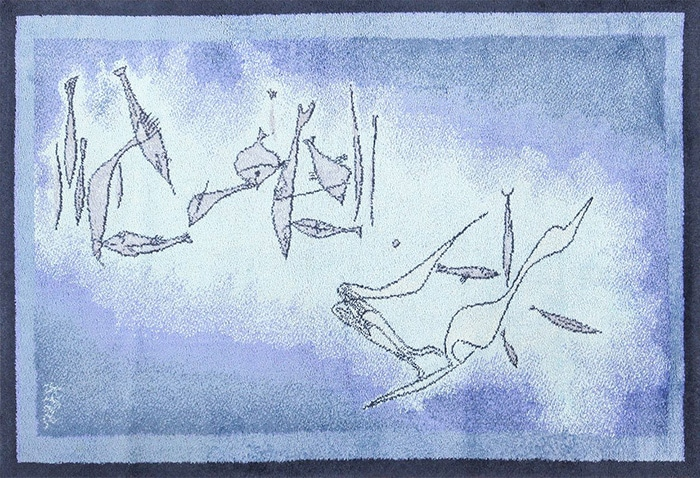 modern art rug by artist Paul Klee #49503 by Nazmiyal