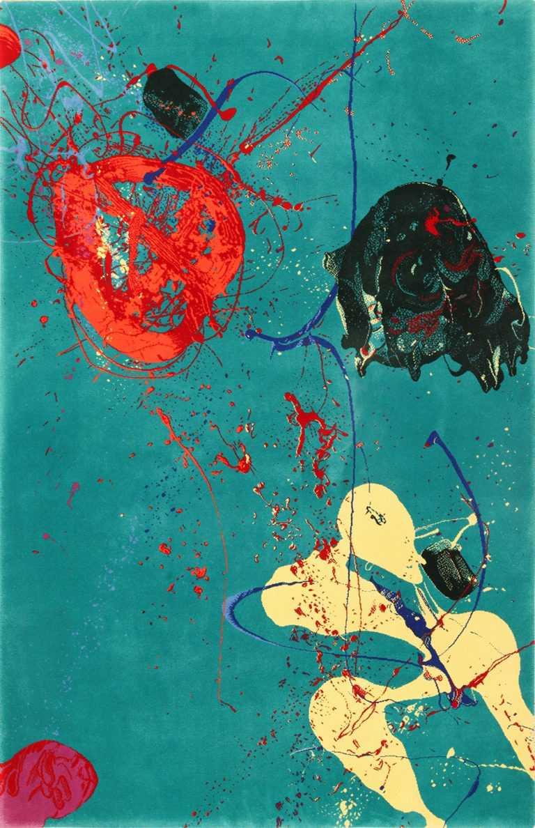 Beautiful Vintage Abstract Expressionist Sam Francis Art Rug 49703 by Nazmiyal