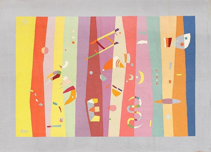 bauhaus modern art rug by artist Wassily Kandinsky #41278