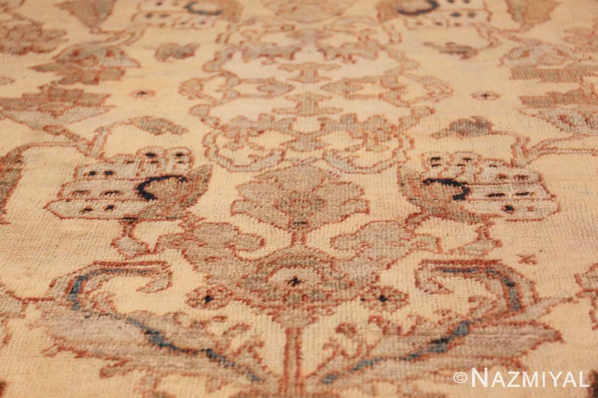 antique decorative oversized persian sultanabad rug 49675 ivory Namziyal