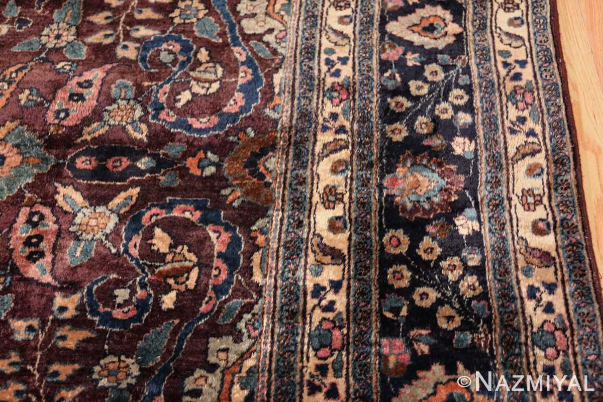 antique purple color persian khorassan rug 49686 border Nazmiyal