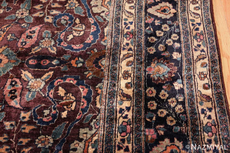 antique purple color persian khorassan rug 49686 border Nazmiyal