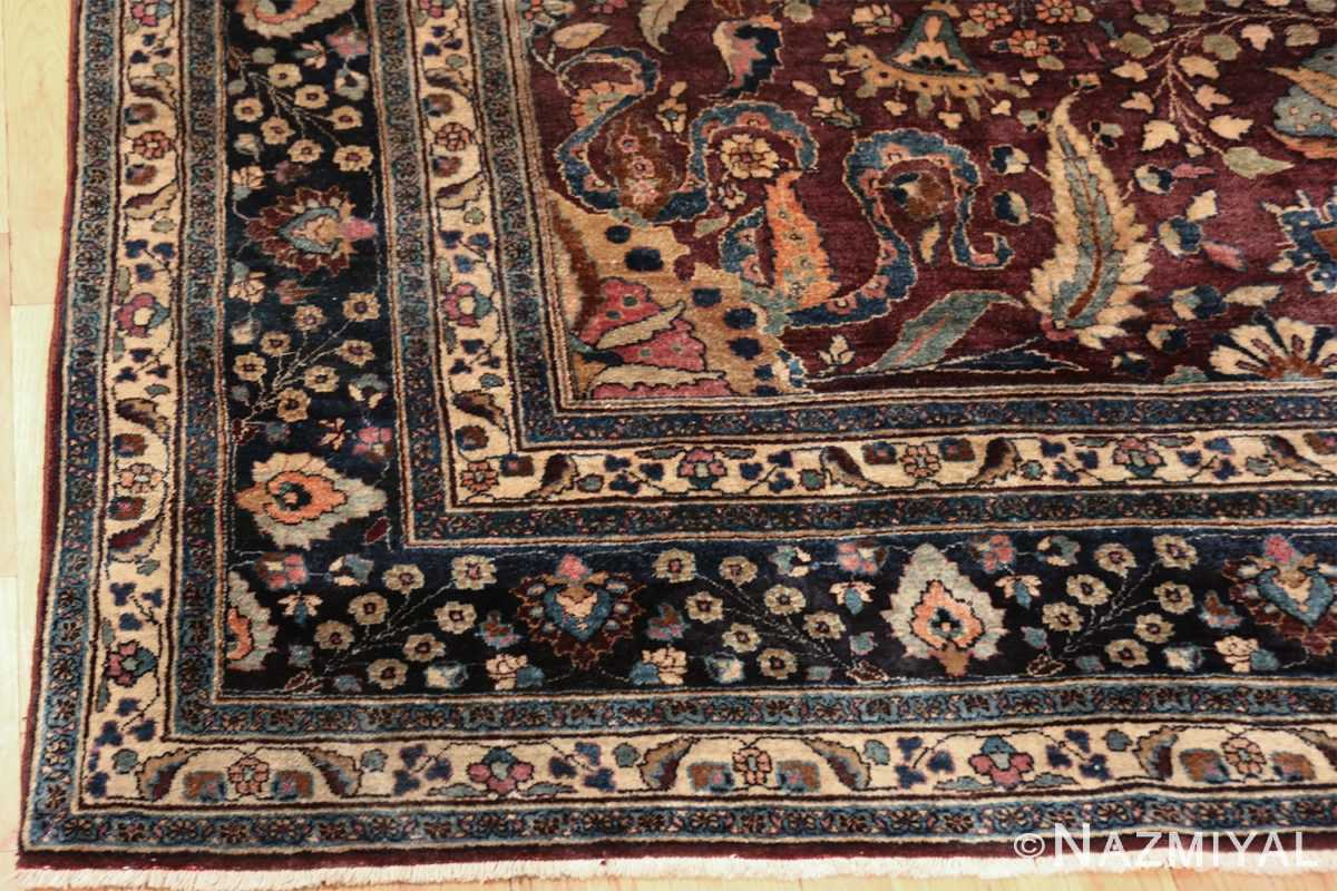 antique purple color persian khorassan rug 49686 corner Nazmiyal