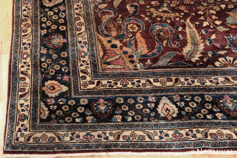 antique purple color persian khorassan rug 49686 corner Nazmiyal