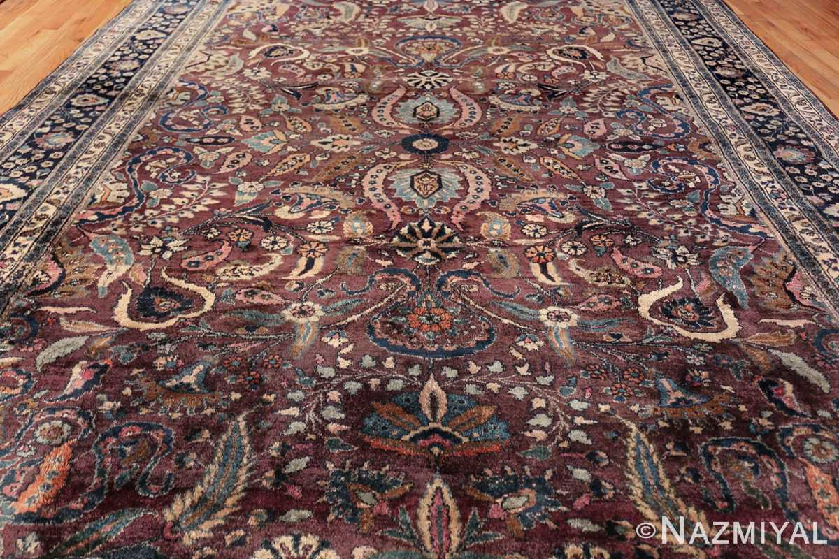 antique purple color persian khorassan rug 49686 field Nazmiyal