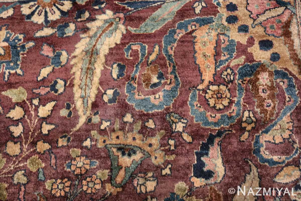 antique purple color persian khorassan rug 49686 fiona Nazmiyal