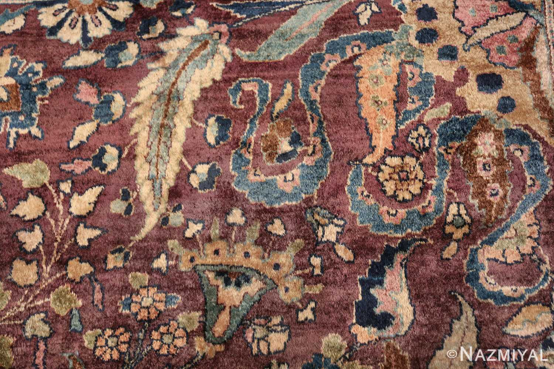 antique purple color persian khorassan rug 49686 fiona Nazmiyal