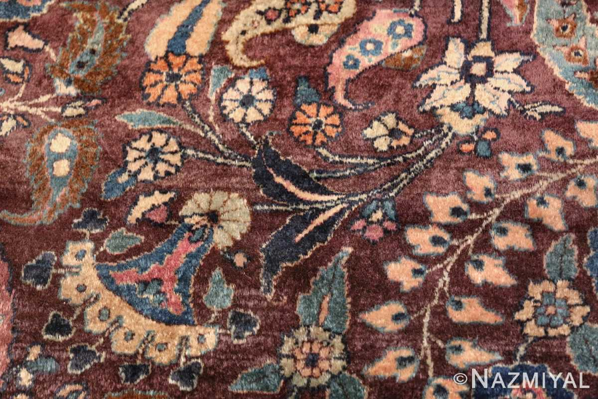 antique purple color persian khorassan rug 49686 flower Nazmiyal