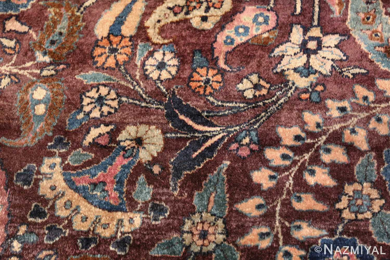antique purple color persian khorassan rug 49686 flower Nazmiyal