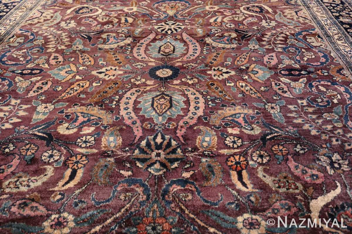 antique purple color persian khorassan rug 49686 middle Nazmiyal