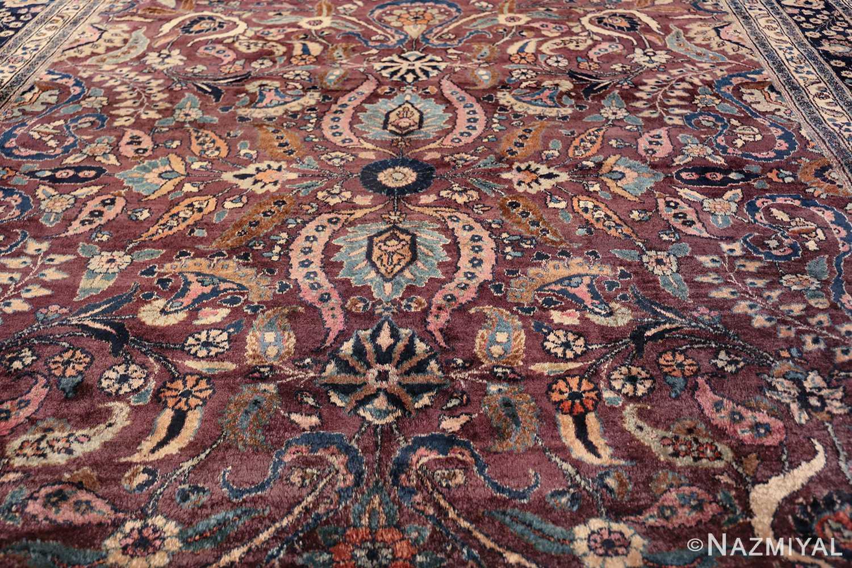 antique purple color persian khorassan rug 49686 middle Nazmiyal