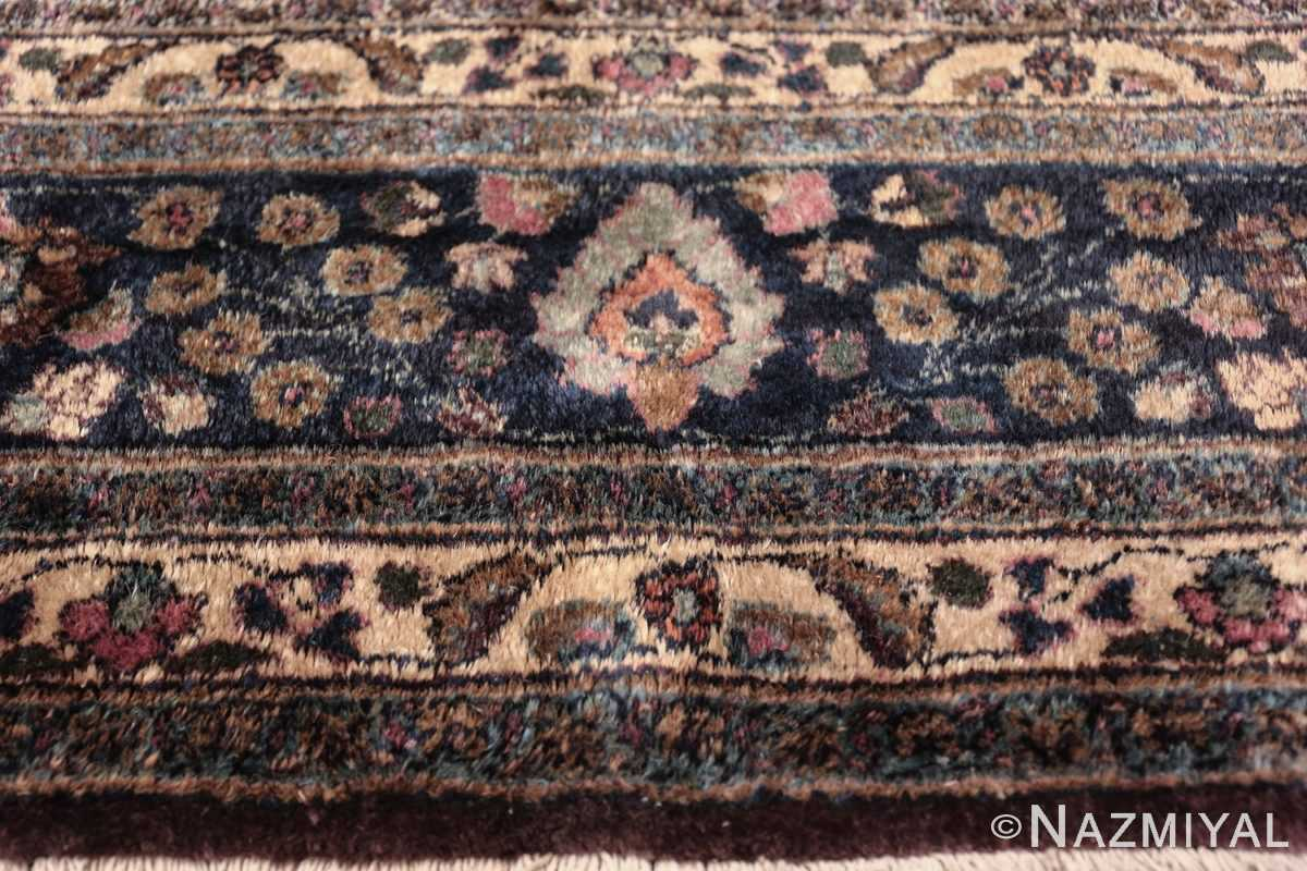 antique purple color persian khorassan rug 49686 part Nazmiyal