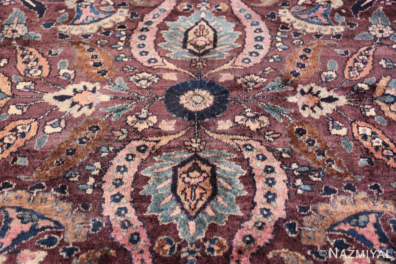 antique purple color persian khorassan rug 49686 pink Nazmiyal