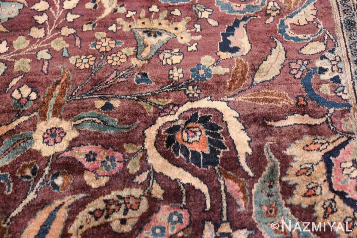 antique purple color persian khorassan rug 49686 shoe Nazmiyal