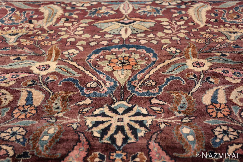 antique purple color persian khorassan rug 49686 top Nazmiyal