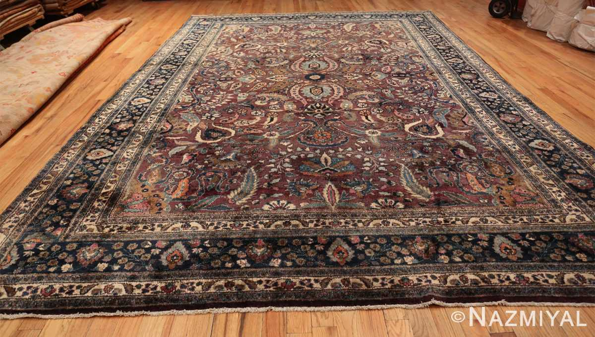 antique purple color persian khorassan rug 49686 whole Nazmiyal