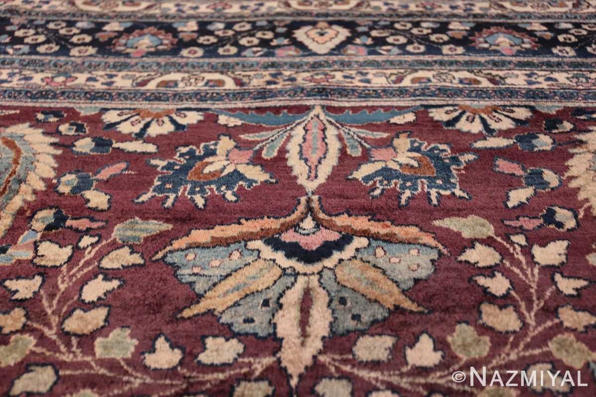 antique purple color persian khorassan rug 49686 wreath Nazmiyal