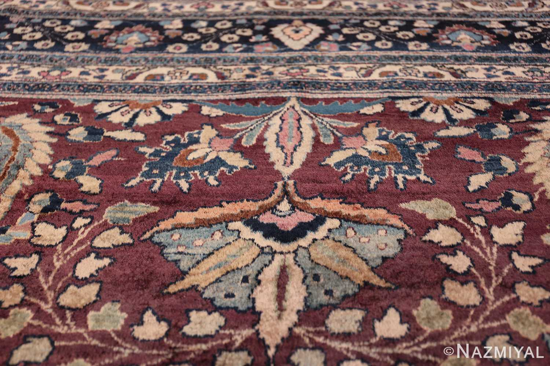 antique purple color persian khorassan rug 49686 wreath Nazmiyal