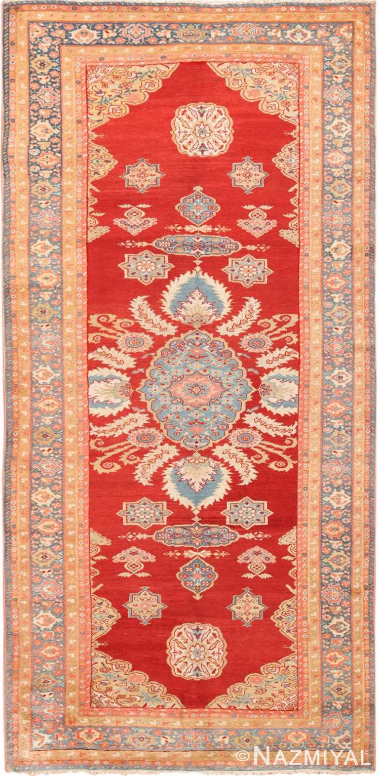 Long and Narrow Antique Persian Sultanabad Rug 49679 by Nazmiyal