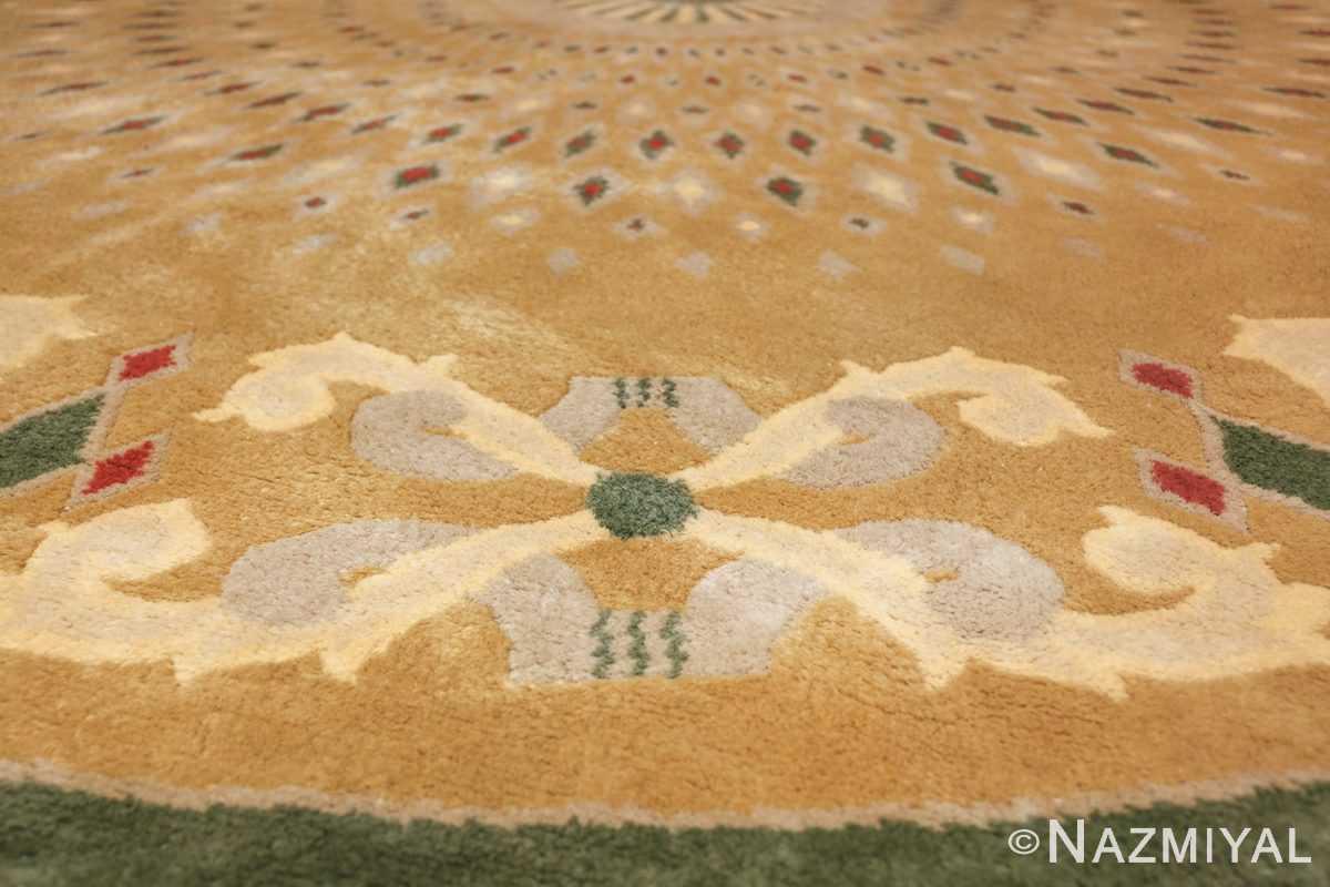 antique round french art deco rug by leleu 49693 bow Nazmiyal