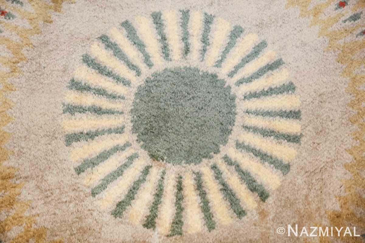 antique round french art deco rug by leleu 49693 center Nazmiyal
