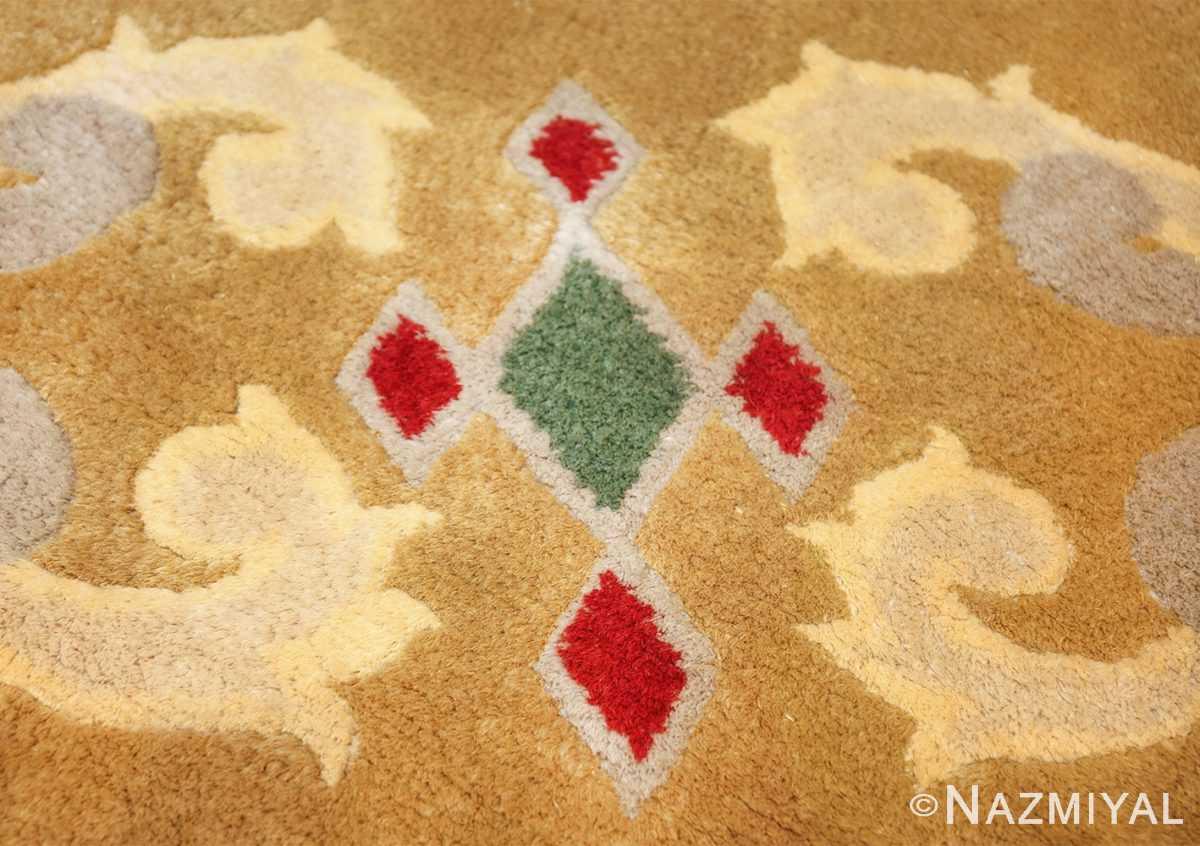antique round french art deco rug by leleu 49693 jewel Nazmiyal