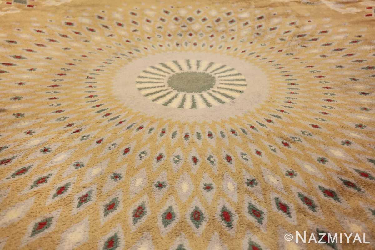 antique round french art deco rug by leleu 49693 medallion Nazmiyal