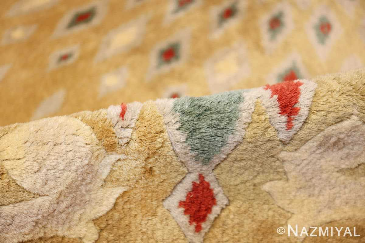 antique round french art deco rug by leleu 49693 pile Nazmiyal