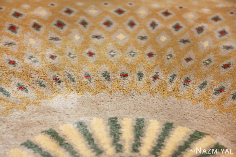 antique round french art deco rug by leleu 49693 tiara Nazmiyal