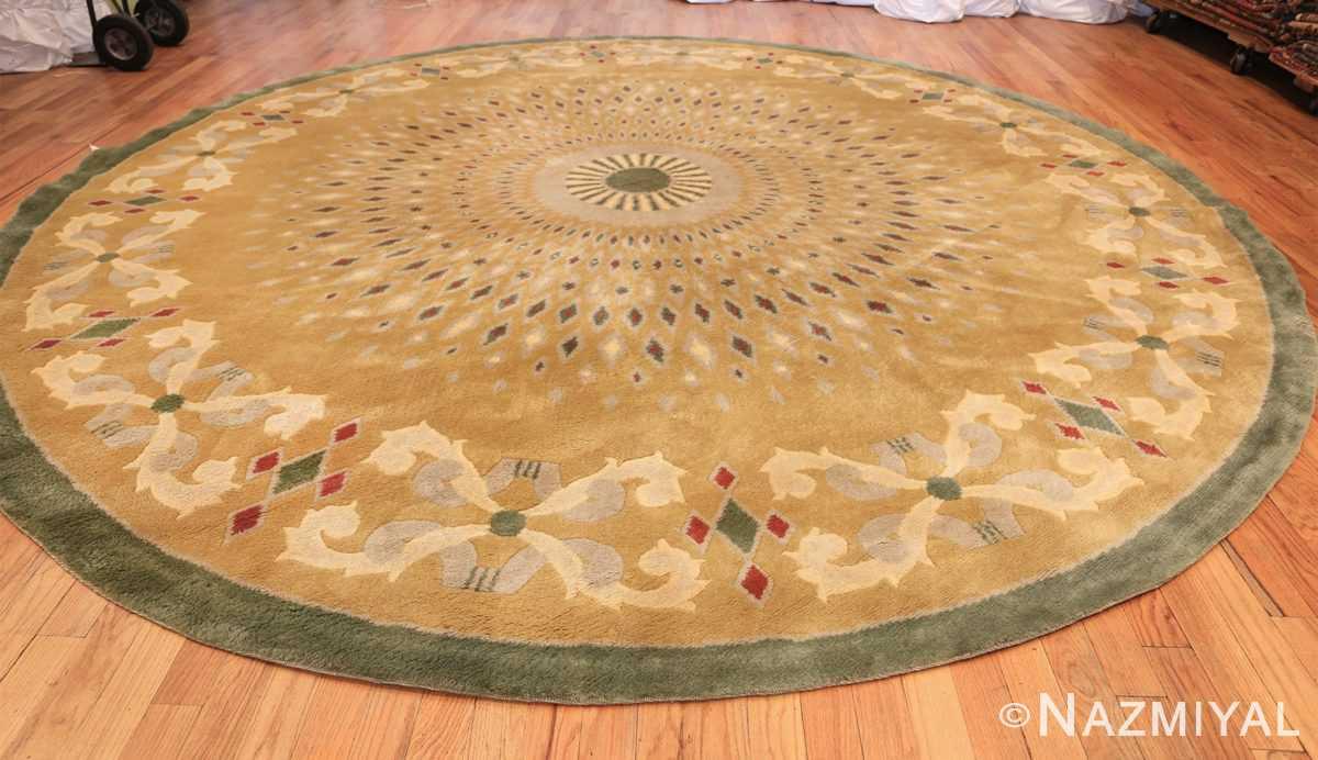 antique round french art deco rug by leleu 49693 whole Nazmiyal