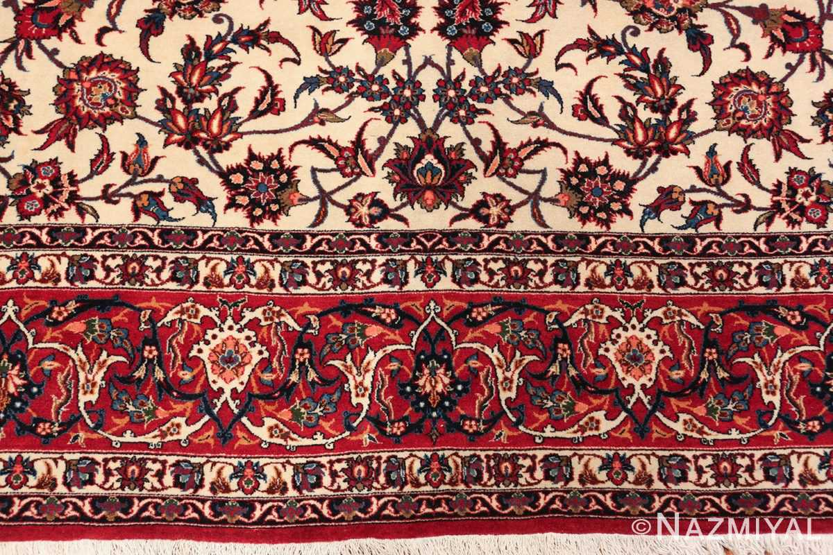 antique wide hallway gallery size persian isfahan rug 60045 border Nazmiyal