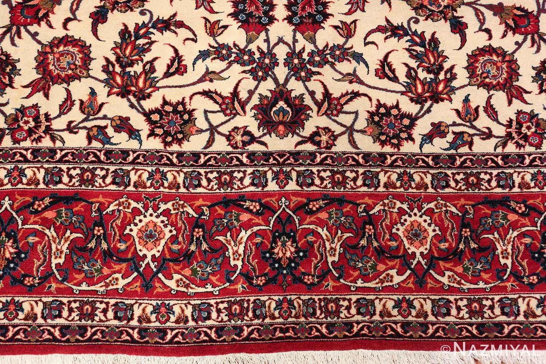 antique wide hallway gallery size persian isfahan rug 60045 border Nazmiyal