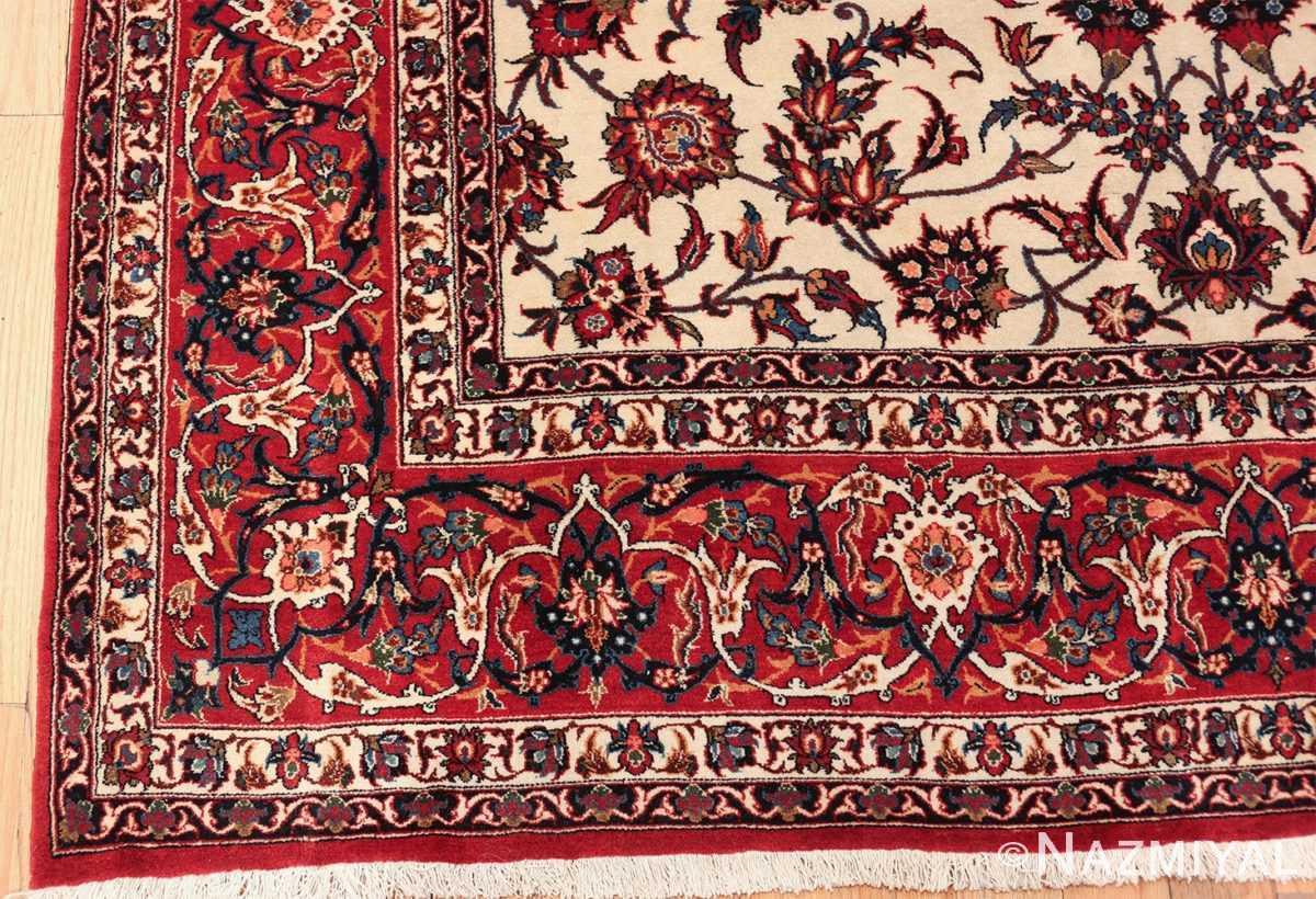 antique wide hallway gallery size persian isfahan rug 60045 corner Nazmiyal