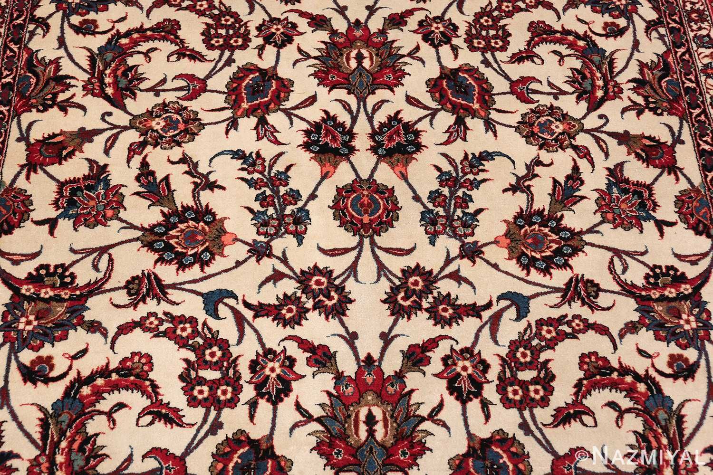 antique wide hallway gallery size persian isfahan rug 60045 scrolls Nazmiyal