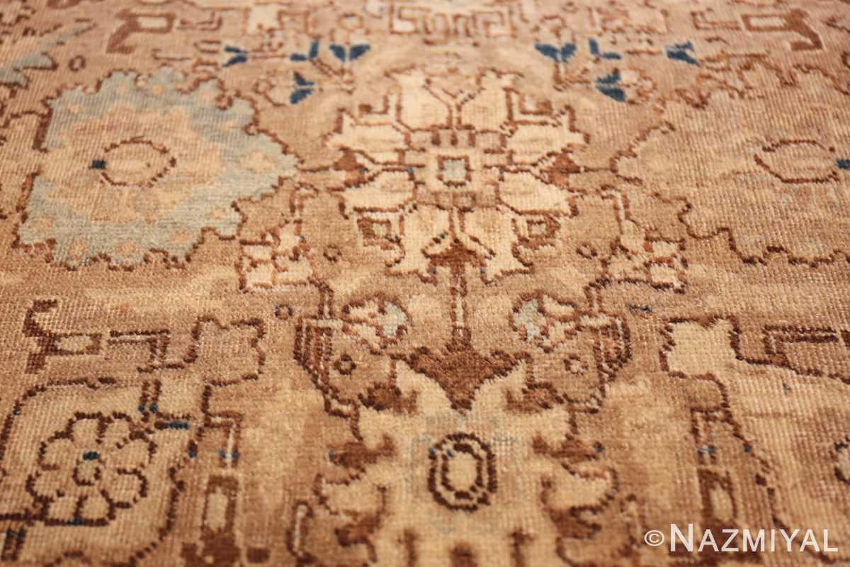 decorative neutral antique room size persian tabriz rug 49666 blue Nazmiyal