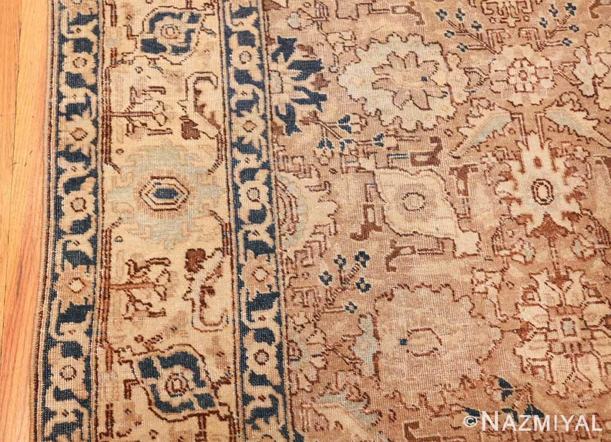 decorative neutral antique room size persian tabriz rug 49666 border Nazmiyal