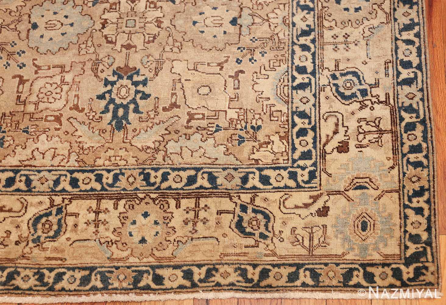 decorative neutral antique room size persian tabriz rug 49666 corner Nazmiyal