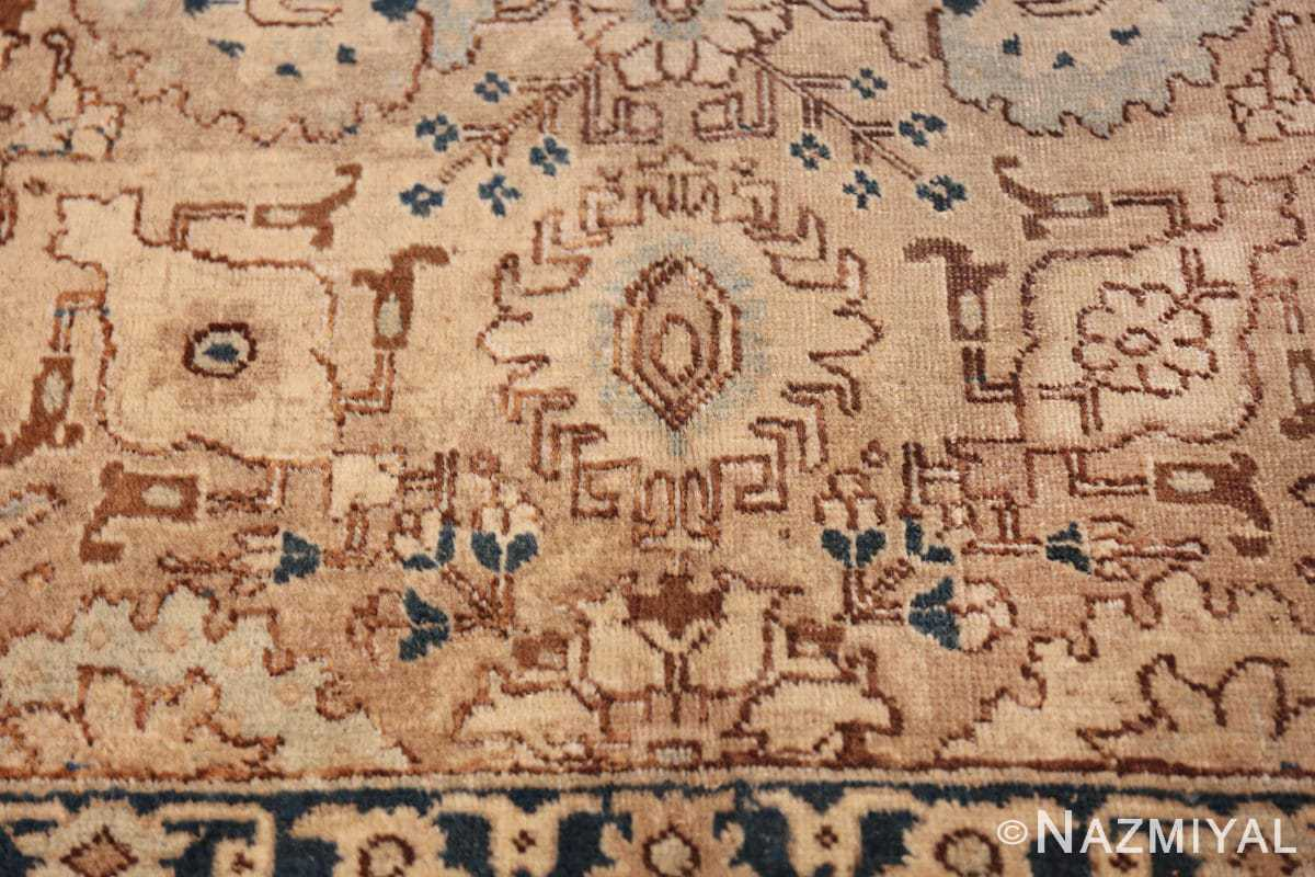 decorative neutral antique room size persian tabriz rug 49666 down Nazmiyal