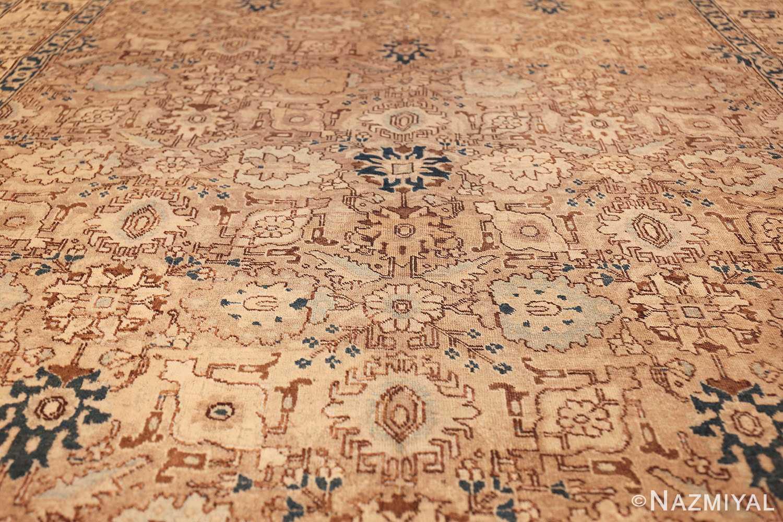 decorative neutral antique room size persian tabriz rug 49666 field Nazmiyal