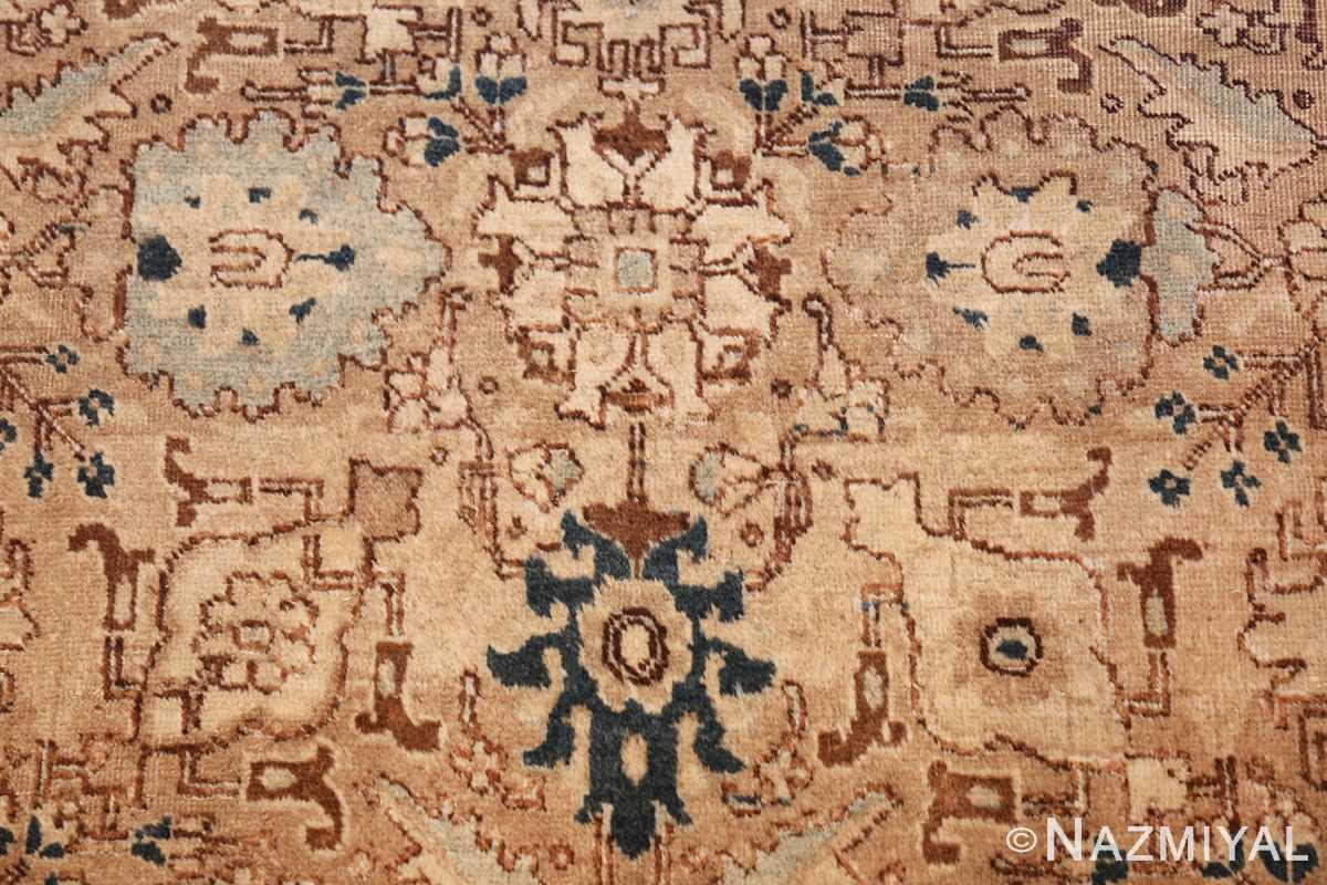 decorative neutral antique room size persian tabriz rug 49666 ivory Nazmiyal