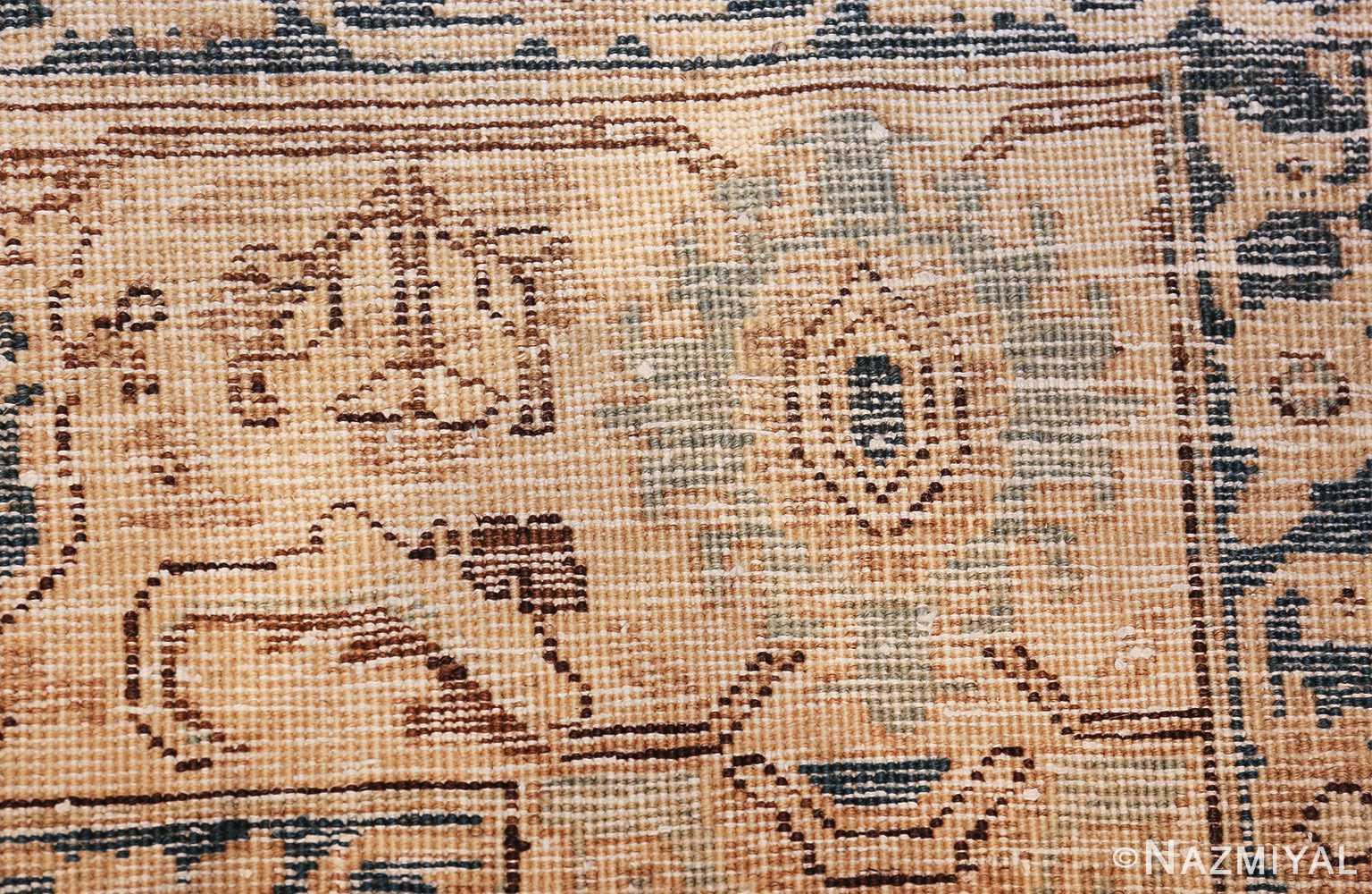 decorative neutral antique room size persian tabriz rug 49666 knots Nazmiyal