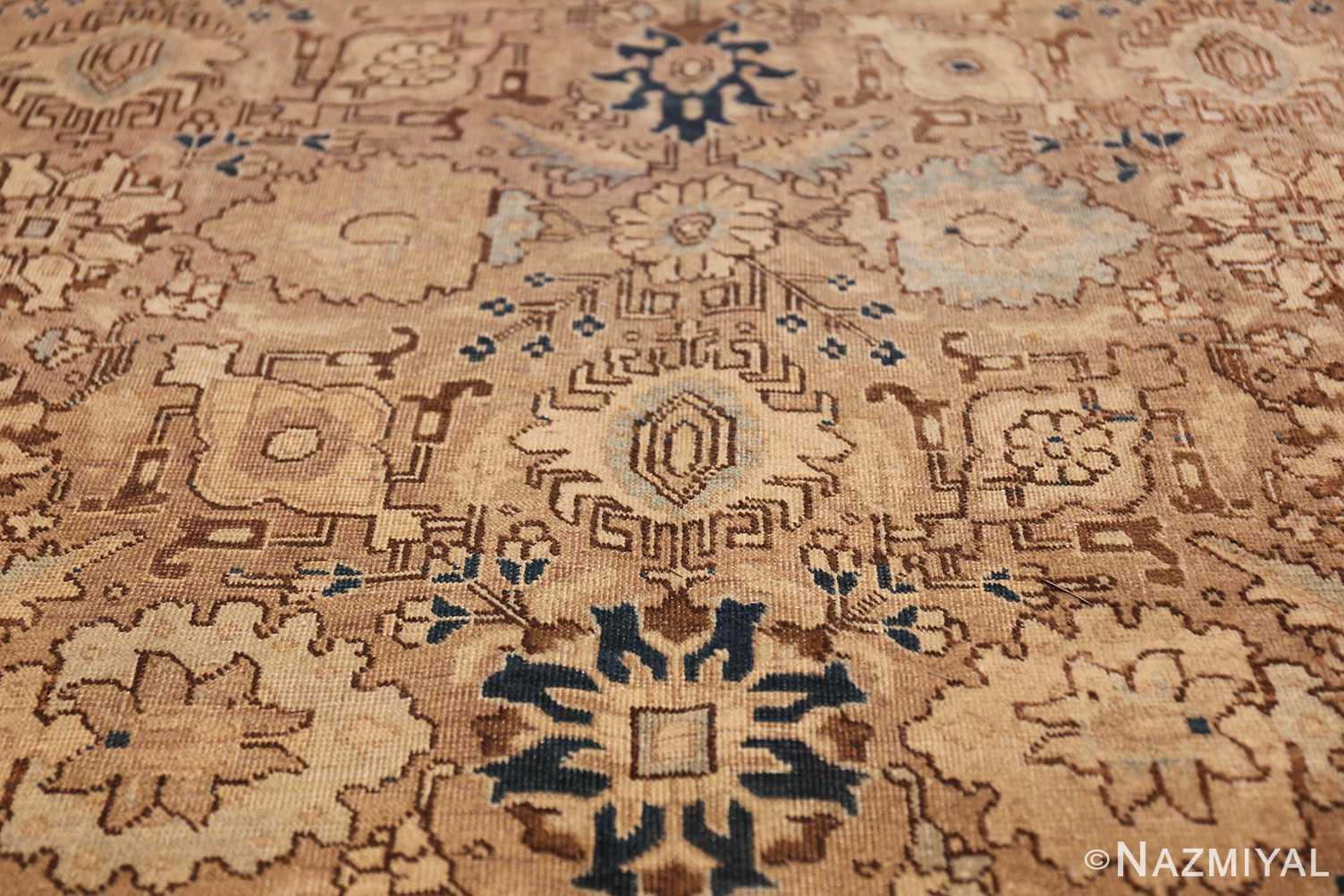 decorative neutral antique room size persian tabriz rug 49666 middle Nazmiyal