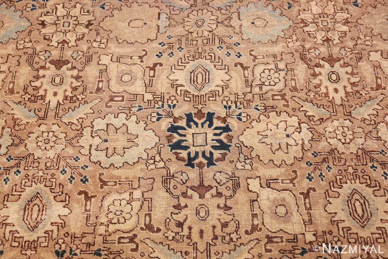 decorative neutral antique room size persian tabriz rug 49666 navy Nazmiyal