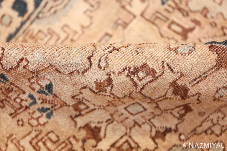 decorative neutral antique room size persian tabriz rug 49666 pile Nazmiyal