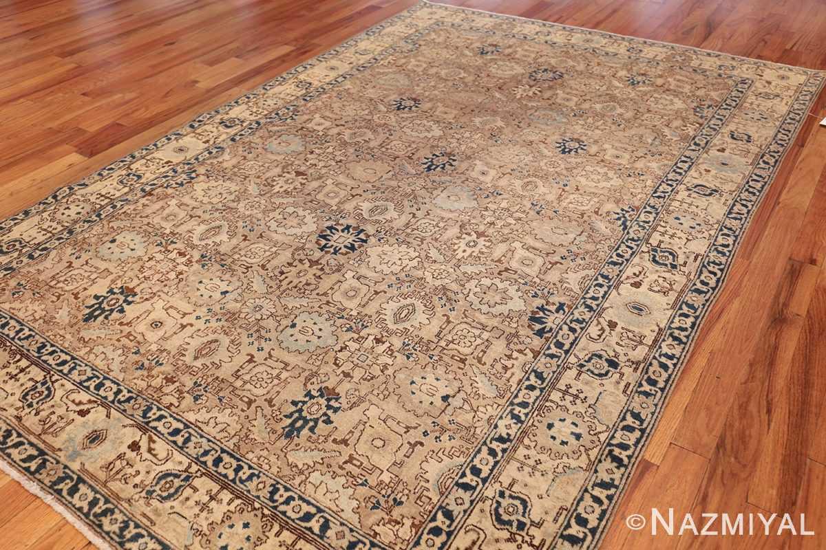 decorative neutral antique room size persian tabriz rug 49666 side Nazmiyal