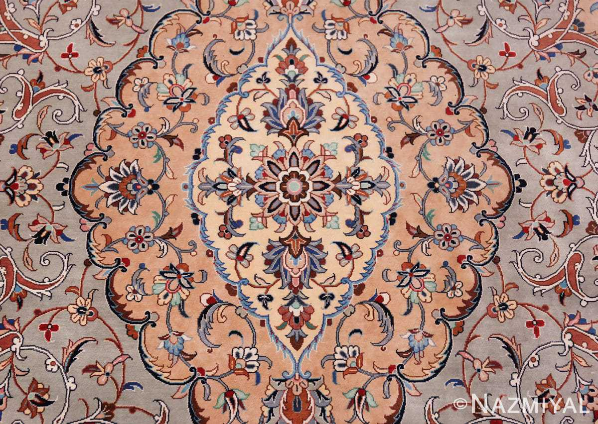 fine large vintage persian silk kashan rug 60039 center Nazmiyal