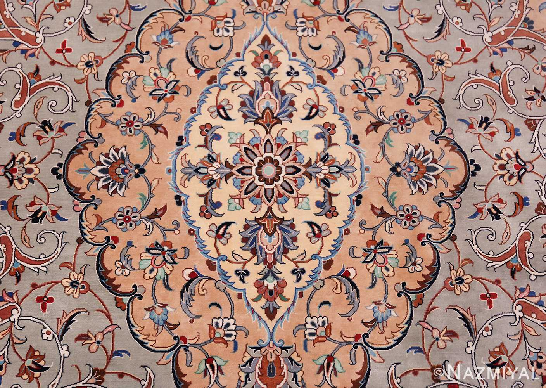 fine large vintage persian silk kashan rug 60039 center Nazmiyal